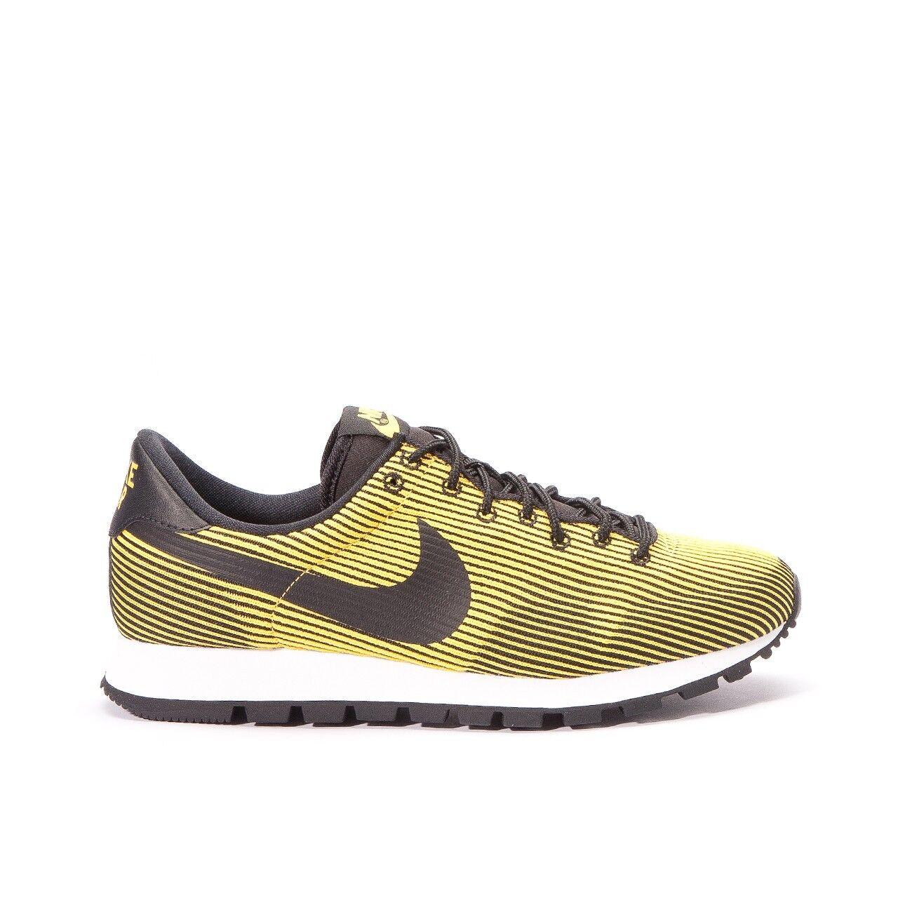 Nike Air Pegasus 83 Knit Jacquard - Men's 7.5 (828406-004) BLACK/VARSITY MAIZE