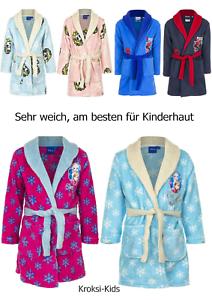 Bademantel Elsa Mädchen Frozen Morgenmantel Eiskönigin Kinder Gr 98 104 116