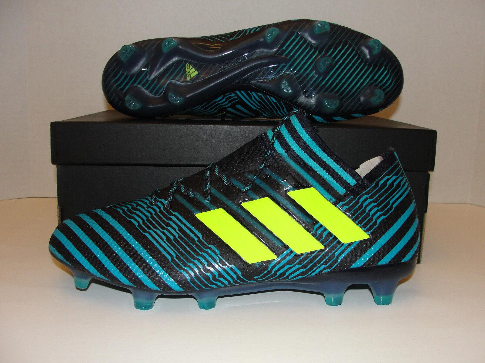 Adidas Nemeziz 17.1 FG Soccer Cleats Black Blue Yellow BB6078 Men 8