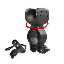 360 Torch Clip Mount Bicycle Front Light Bracket Flashlight With Holder H4Z8