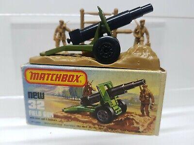 32 FIELD GUN REPRO BOX MATCHBOX 1:75 n
