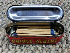 VINTAGE-PRINCE-ALBERT-VERTICAL-POCKET-LITHO-TOBACCO-TIN-MATCH-SAFE-STASH