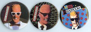 Max-HEADROOM-Pinback-Knopf-Set-1987-Coca-Cola-Pin-Lot-Promo-Collection-bh310
