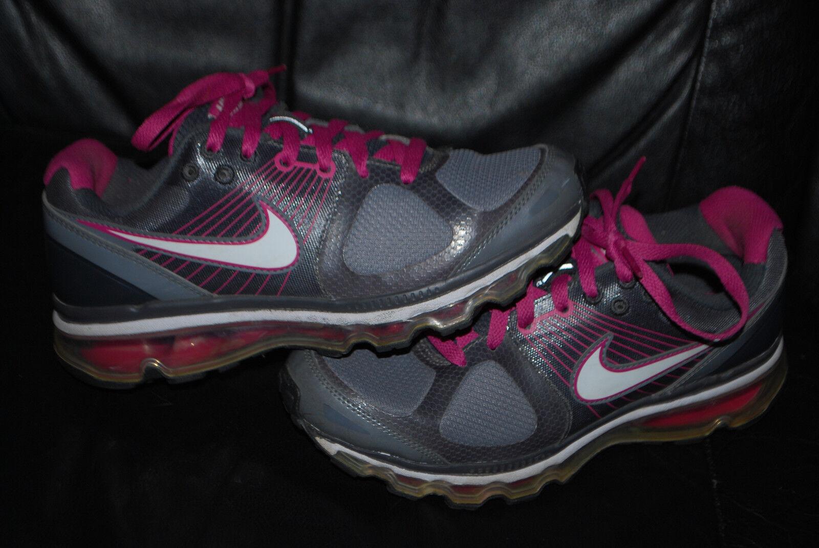 Women's Nike Air Max+ 2010 White Dark Shadow Winterberry Running Sneaker (7)