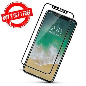 iPhone X XS 3D Full Coverage High Quality Clear Tempered Glass Screen Protector