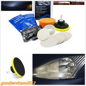 14Pcs Car Headlight Lens Restoration Kit Restorer System Professional Tools DiY