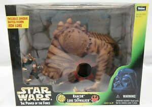 Star-Wars-Power-Of-The-Force-Rancor-amp-Luke-Skywalker-Action-Figure-Kenner-TY