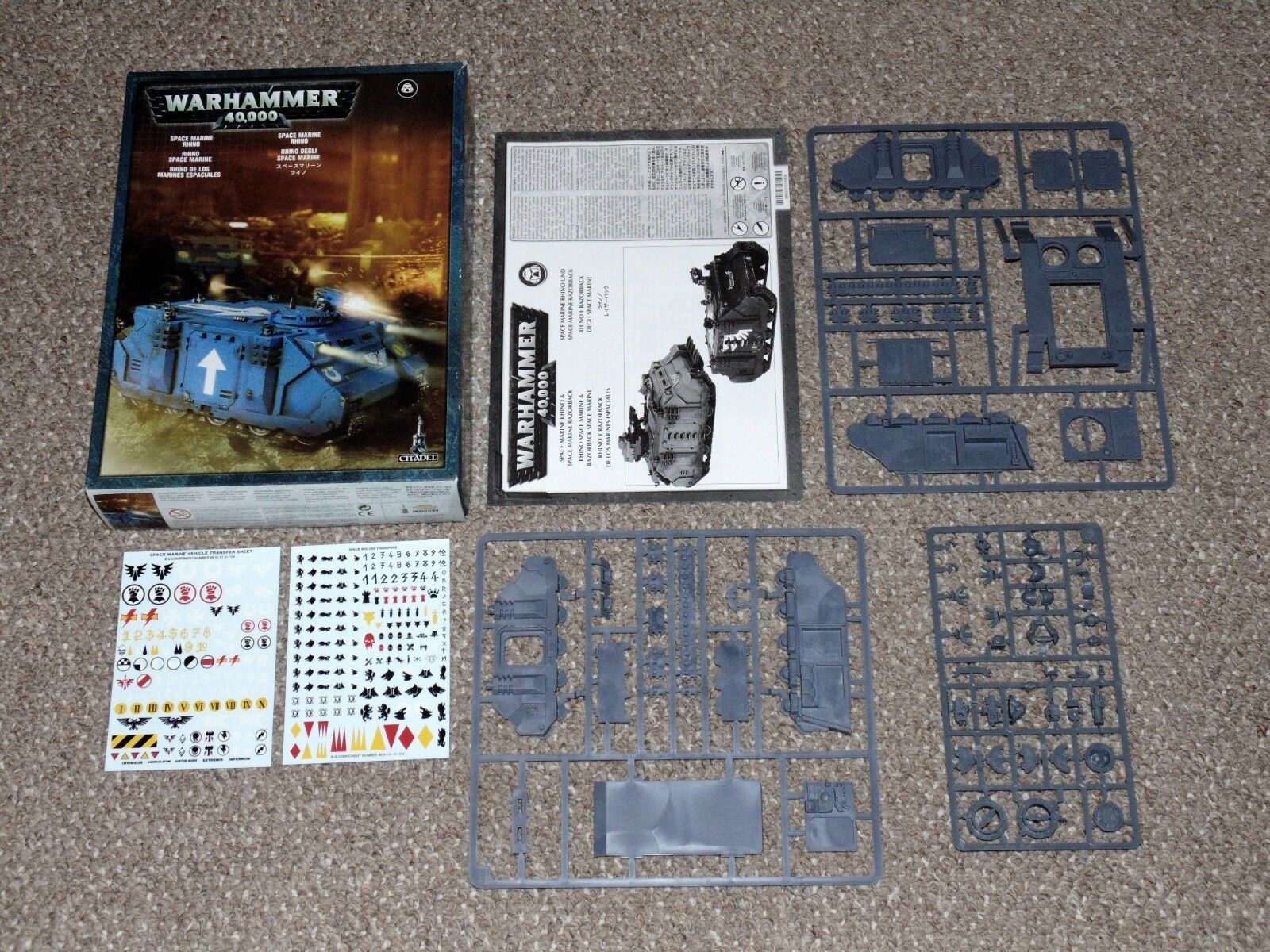 2007 Games Workshop Warhammer 40K Space Marine Rhino New in Box Unassembled