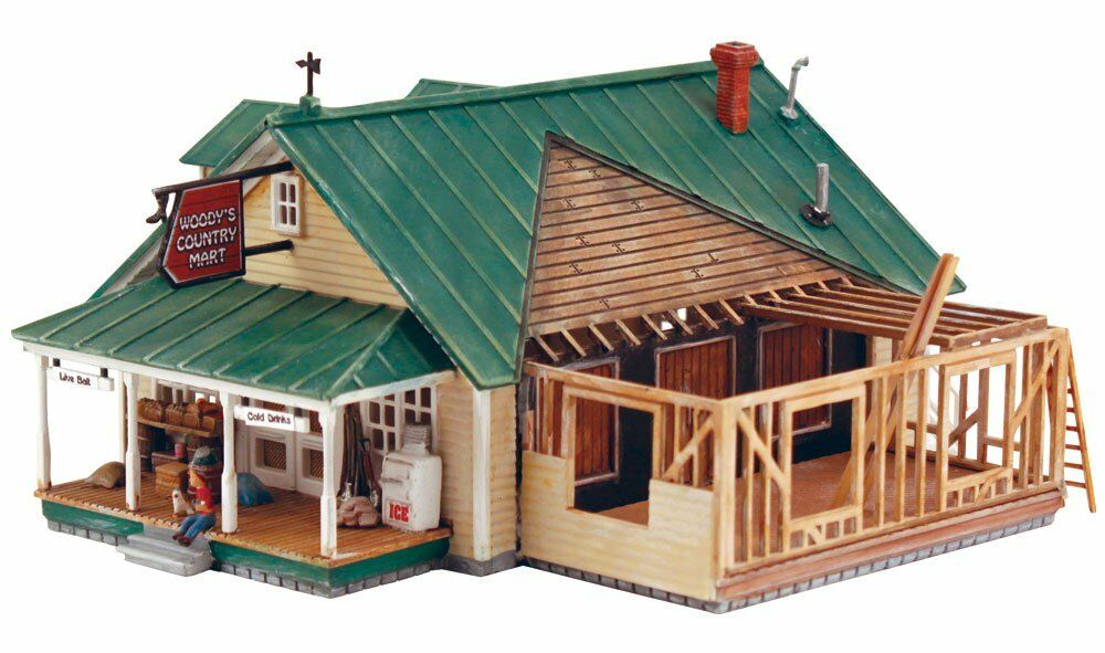 HS Woodland Scenics DPM 12900 Woody's Country Market US Building Kit SP HO