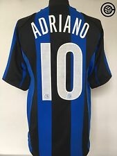 ADRIANO #10 Inter Milan Nike Home Football Shirt Jersey 2004/05 (L)