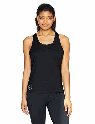 Starter Women's Cotton Rackerback Tank Top, Amazon Exclusive,, Black, Size