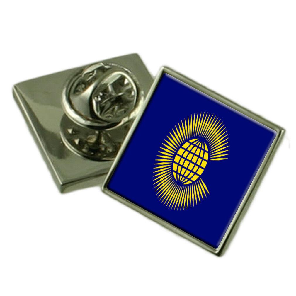 Commonwealth Spilla Spilla Spilla per Bavero Inciso Scatola Personalizzata 500688