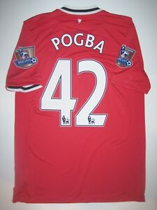 buy online 3abb0 8ef38 Details about 2011/2012 Manchester United Nike Paul Pogba #42 Shirt Kit  Jersey Juventus France