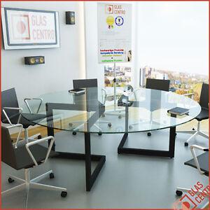 rund 120 160 cm glasplatte tischplatte couchtisch f glastisch ebay. Black Bedroom Furniture Sets. Home Design Ideas