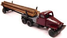 H0 IFA G 5 Zugmaschine Langholztransporter Echtholz rubinrot DDR Wald Forst Baum