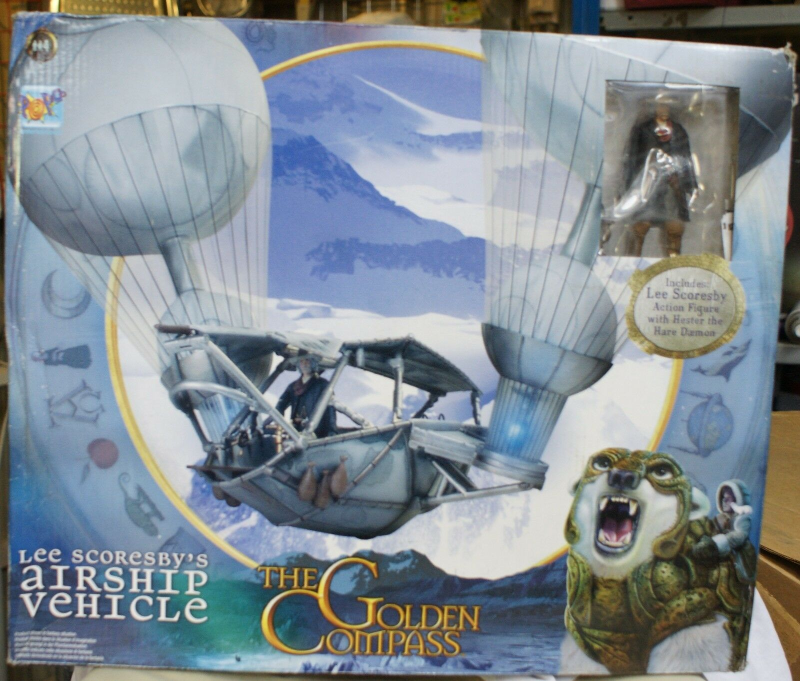 Golden Compass Airship Vehicle Lee Scoresby Figure Aeronaut Balloon playset