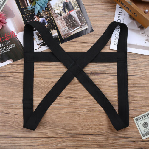Mens Punk Shoulder Strap Body Chest Harness Belts Restrain Belt Clubwear Costume