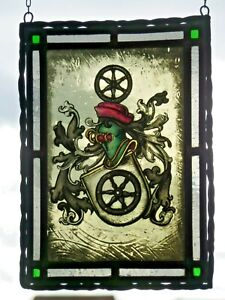"Bleiverglasung Fensterbild Glasmalerei ""Wappen v. Osnabrück"""