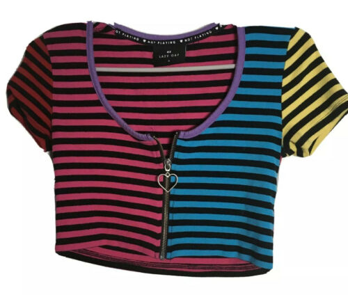 Lazy Oaf Striped Crop Top