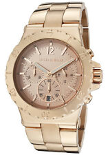 Michael Kors MK5314 Stainless Steel Women Rose Gold Chronograph Watch New in Box