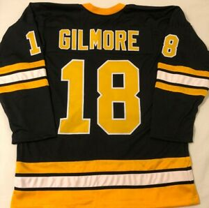 Happy Gilmore Custom Boston Hockey Jersey Mens Size XL Stitched Adam ... a9123d044