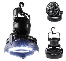 Outdoor Camping Fan 18 LED Flashlight Hanging Tent Light Portable Lantern 2 in 1