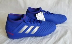 19b6cf2126 Adidas Predator 19.3 TF Youth NEW CM8546 Blue Soccer Turf Shoes ...