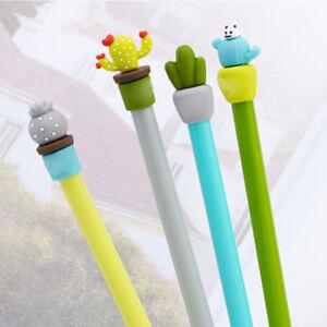 Office-School-Supply-2Pcs-Cute-Cactus-Design-Gel-Pen-Ballpoint-Writing-Pen-Gift