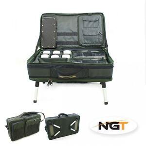NGT-Carpsystem-Tackle-Tasche-Bivvy-Table-588-mit-sehr-viel-Zubehoer