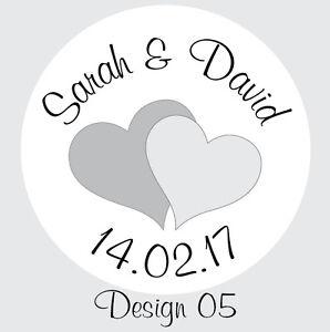 140 Personalisiert 25mm Hochzeit Herz Geschenk Briefumschlag