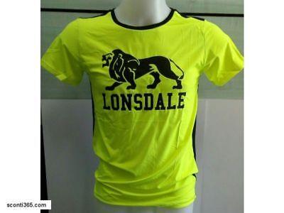 Lonsdale Tshirt Fitness,uomo/ragazzo - Cod.art. Loupe17261-yel (yellow/black)