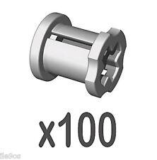 100 Lego Technic BUSH Kit  (nxt,ev3,connector,mindstorms,bushing,robot,axle,car)