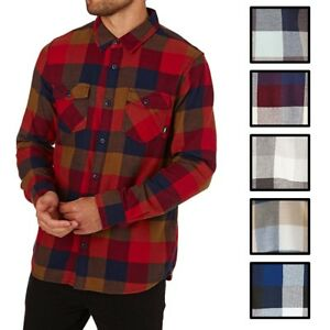Vans-Off-The-Wall-Men-039-s-Box-Long-Sleeve-Plaid-Flannel-Shirt