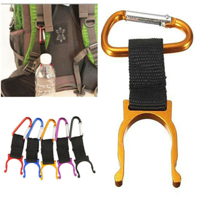 2X Portable Clip Carabiner Hike Camp Water Bottle Holder Hook Buckle Keychain PA