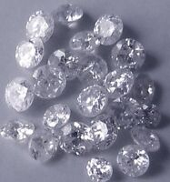 0.045 cts total lot of 10 natural River D loose round diamonds 0.90mm-1.00 mm