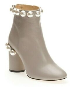 Katy-Perry-Womens-The-Opearl-Nappa-Fashion-Block-Heel-Booties-Gray-Size-5-5