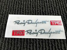 NEW SET OF 2 TOYOTA TRD RACING SPORT DOOR HANDLE EMBLEM LOGO BADGE DECAL