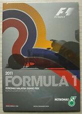 GRAN Premio della Malesia FORMULA UNO F1 2011 KUALA LUMPUR PROGRAMMA UFFICIALE