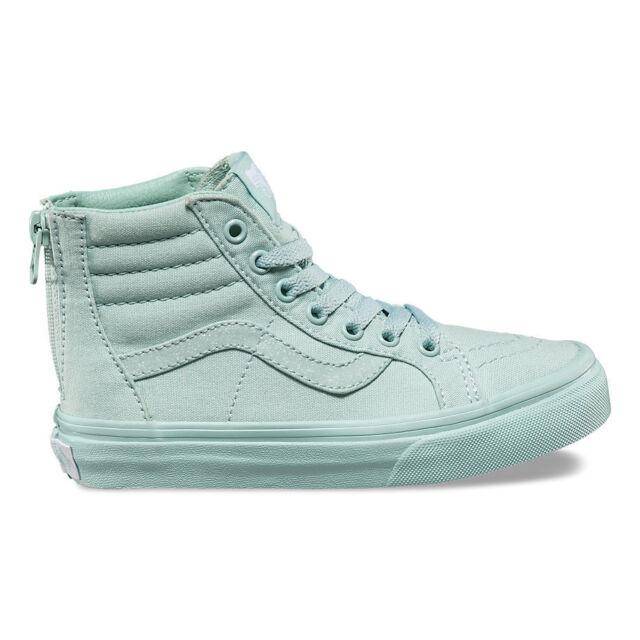 a96c037c402518 Vans TODDLER Girls Sk8Hi Zip Sneakers Mono Harbor   Grey Glitter Size 5.5  New