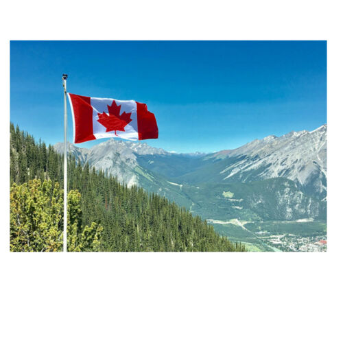 Canada National Flag High Quality Fabric With Brass Eyelets Size 5ft x 3ft