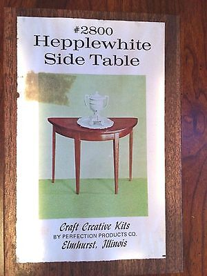 1//12 HEPPLEWHITE CORNER TABLE HOM KIT #40061 WITH MARBLE TOP OPEN COMPLETE