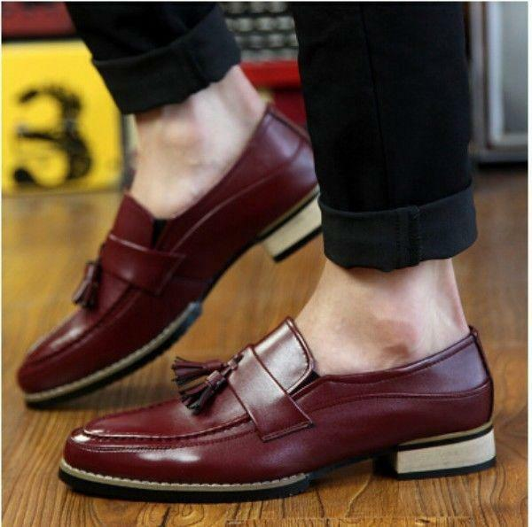 New Mens British style Brogue Business Formal Casual shoes Slip On Loafers Size