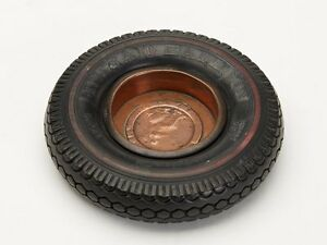 GEORGIAN-COIN-MOUNTED-INDIA-TYRE-ADVERTISING-ASHTRAY-20-C
