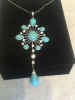 Suzanne Somers Collection 925 Necklace And Large Rhinestone Statement Piece