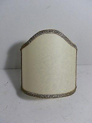 Ventola Pergamena Ventolina in stoffa con bordino bronzato cm 16 applique