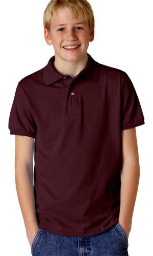 437Y Jerzees Youth Double Needle Hem Spot Shield Ribbed Short Sleeve Polo Shirt
