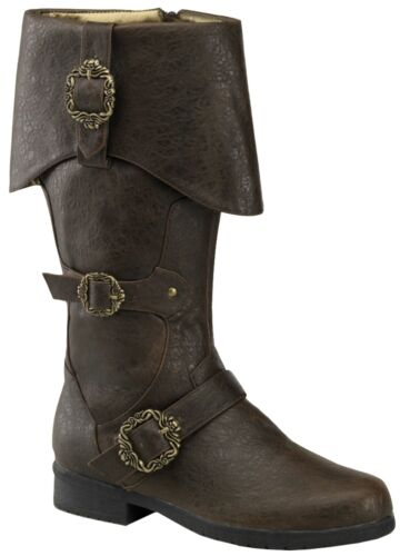 CARIBBEAN BOOTS PIRATE RENAISSANCE BROWN
