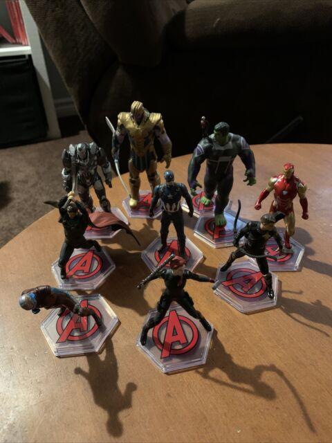 Disney Store Marvel Avengers Figures Ideal Cake Topper Lot Of 9 Thor Hulk RARE