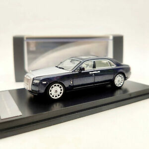 In Stock 1:64 Rolls Royce Ghost Extended Wheelbase Blue Car Diecast Car Model