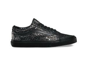 Vans Old Skool Leopard Sneakers In Black VA31Z9LYN | Leopard